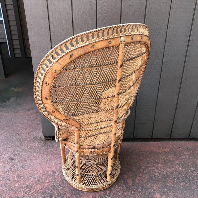 Image of Vintage Wicker Peacock Fan Chair
