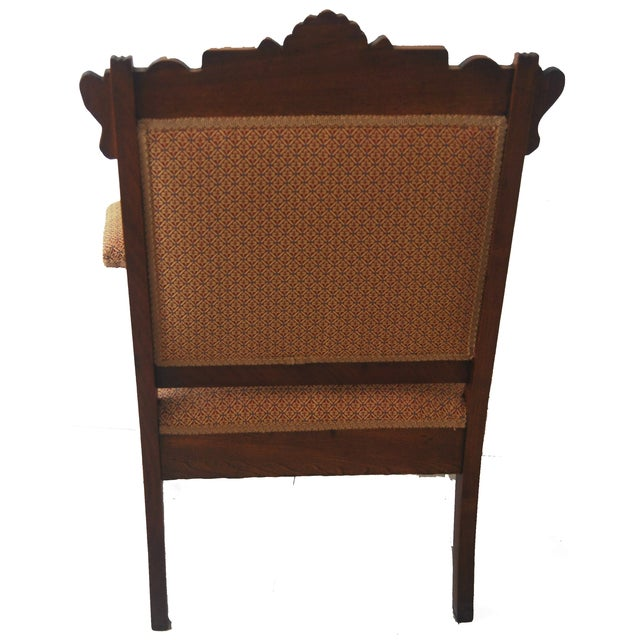 American Walnut & Upholstered Armchair - Image 4 of 10