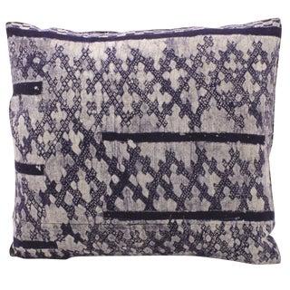 Hmong Print Indigo Pillow