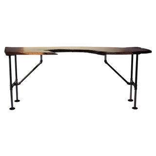 Industrial Mesquite Wood Table and Desk