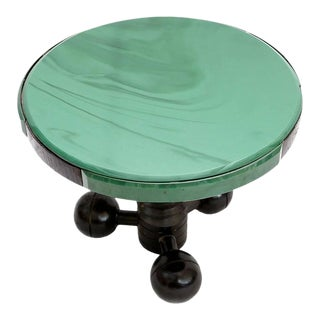 Charles Dudouyt Occasional Table Glass Top