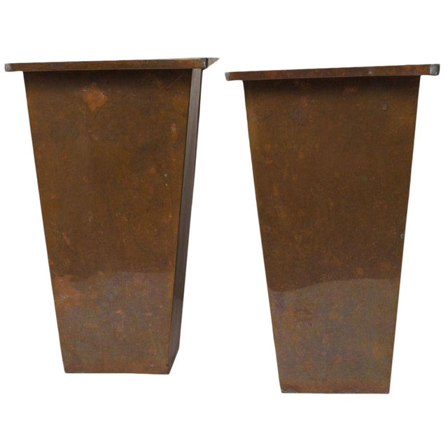 Galvanized Planters - A Pair - Image 1 of 3