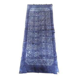 Indogo & White Antique Batik Fabric