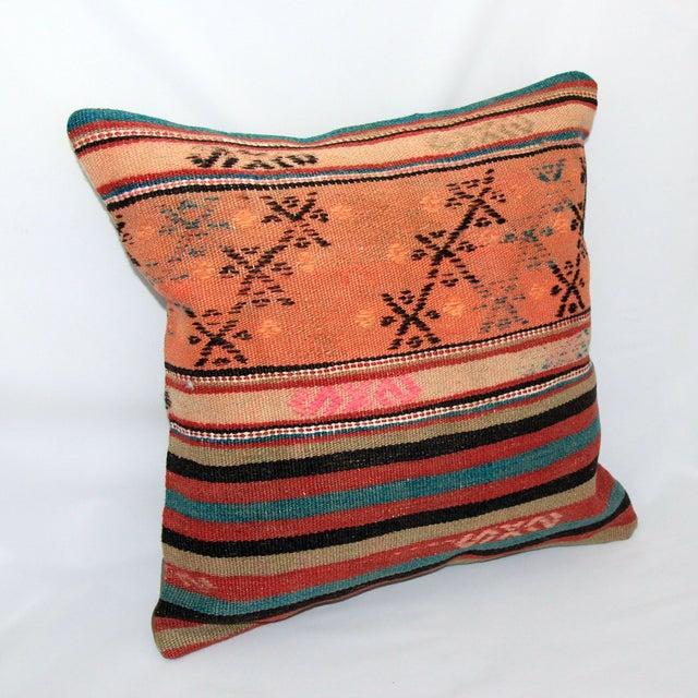 Turkish Handmade Kilim Pillow Cover - Image 4 of 8