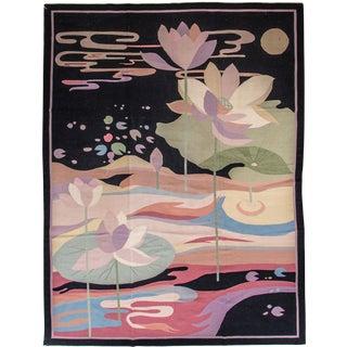 "Apadana Floral Indian Dhurrie Rug - 8'7"" X 11'6"""