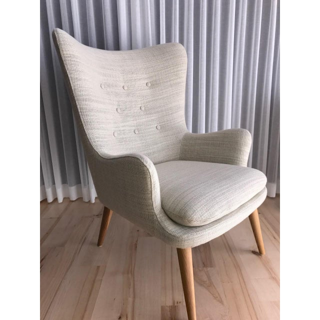 West Elm Wingback Chair - Image 4 of 6
