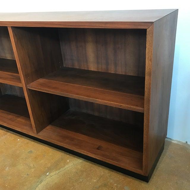 Image of Vintage 1960s Walnut Bookcase