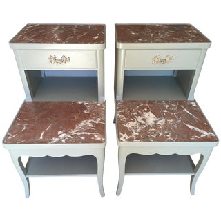 Mid Century French Style Nightstands-A Pair