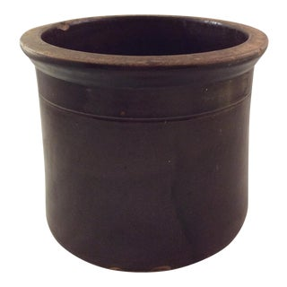 English Brown Ware Crock