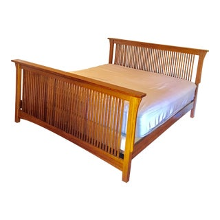 Restoration Hardware Mission Oak King Bedframe