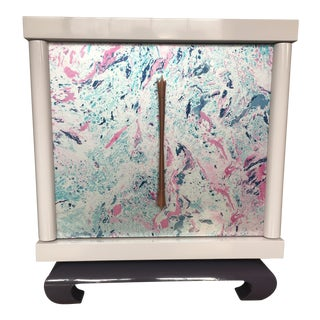 James Mont Style Lacquered Nightstand