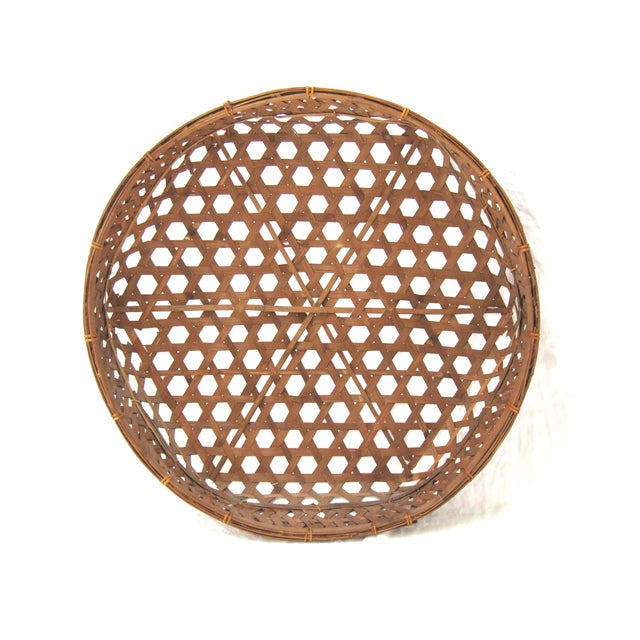Large Round Asian Basket - Image 2 of 7