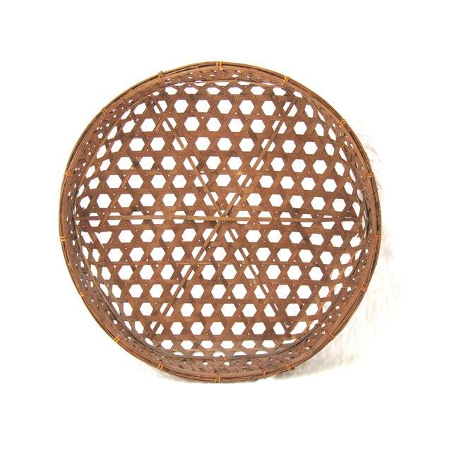 Large Round Asian Basket - Image 2 of 7