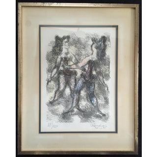 Chaim Gross Dancers Lithograph, 1966