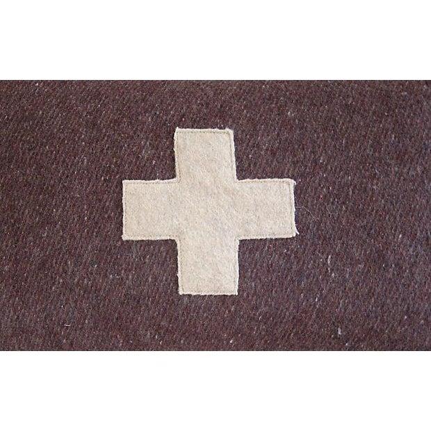 Swiss Wool Appliqué Cross Pillow - Image 3 of 4