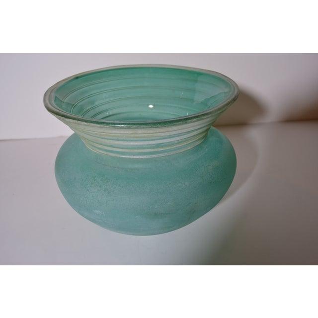 Signed Seguso Scavo Glass Vase - Image 4 of 5