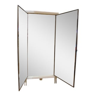 Vintage Triptych Folding Wall Mirror