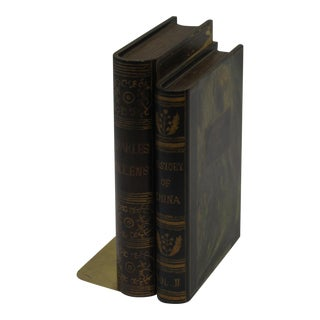 Vintage Sarreid LTD Book-Shaped Wooden Bookend