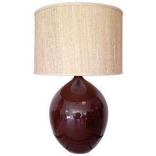 Brown Ceramic Teardrop Lamp