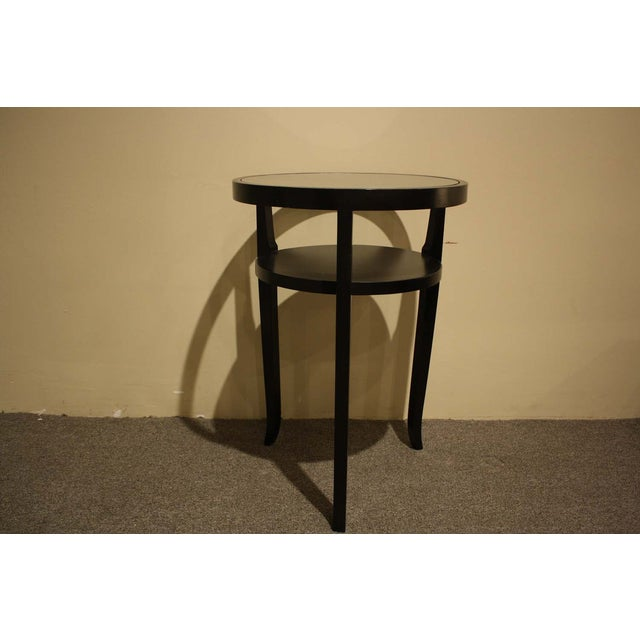 Ebony Wood & Glass Accent Table - Image 2 of 5