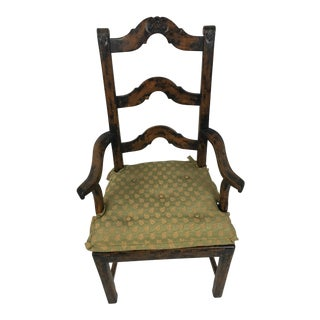 Charles Pollock French Ladderback Arm Chair