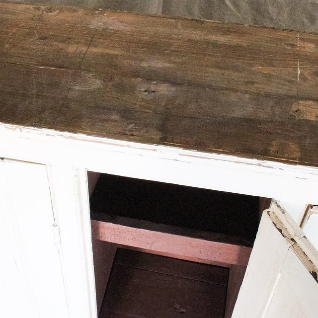 Antique White Distressed Schoolhouse Lockers - Image 10 of 11