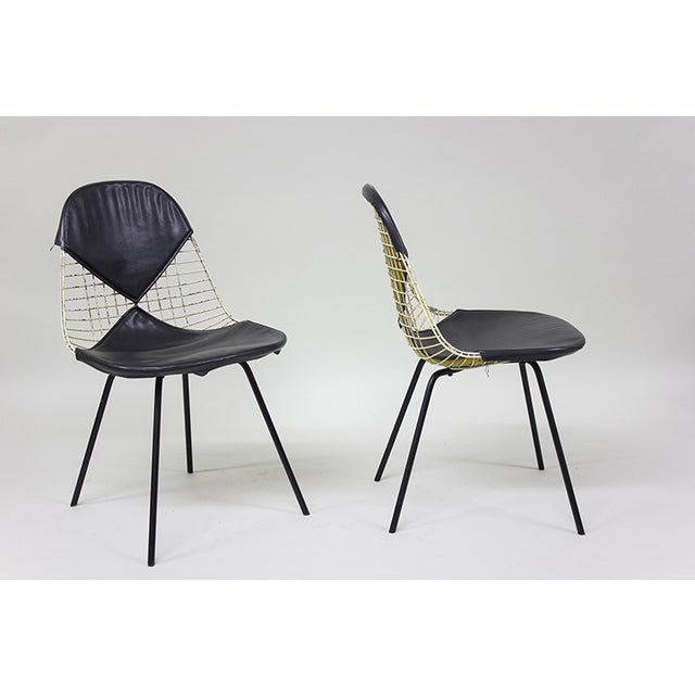 "1950s Early Eames Wire ""Bikini"" Chairs - A Pair - Image 4 of 5"