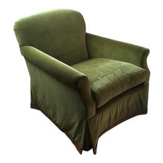 Daphna Green Velvet Chair