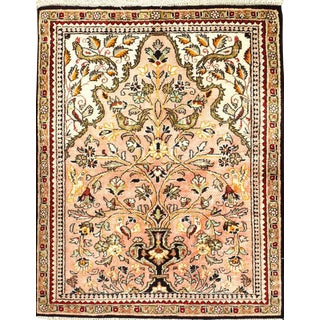 """Pasargad N Y Persian Hand-Knotted Silk Qum Rug - 2' x 2'7"""""""
