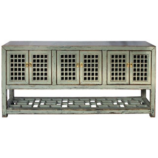 Rustic Style Gray Panel-Door Sideboard