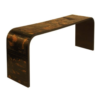 Chinese Coromandel Panel Waterfall Console Table