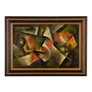 Ozz Franca - Untitled Abstract -Modernism - Original 1969 Oil Painting