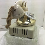 Image of Gold Plated and Ivory Western Electric Phone