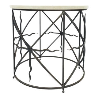 Metal Round Table With Marble Top