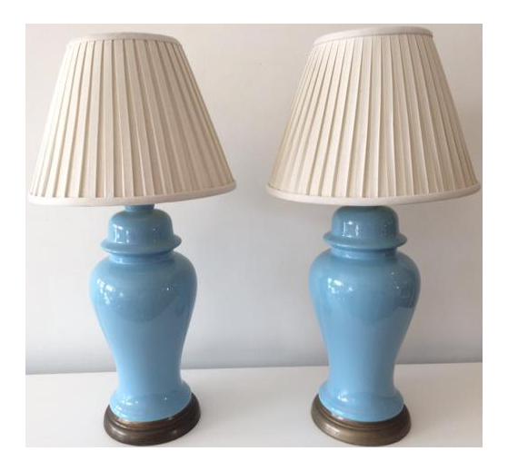 hollywood regency lighting. vintage hollywood regency blue ginger jar table lamps a pair lighting e