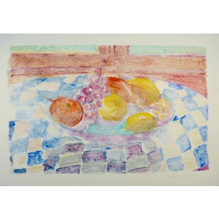 Fruits on Checkered Tablecloth by  Humbert Curcuru