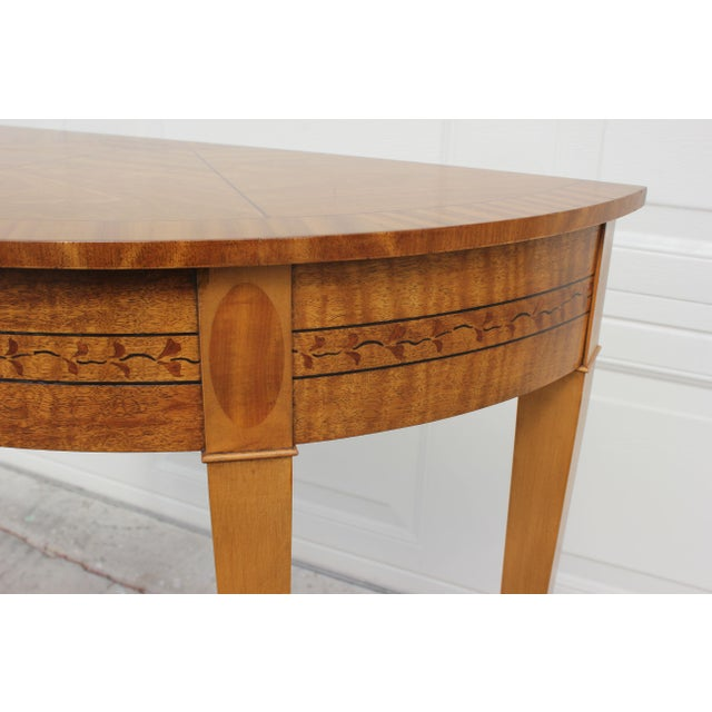 Baker Furniture Demilune Console Table