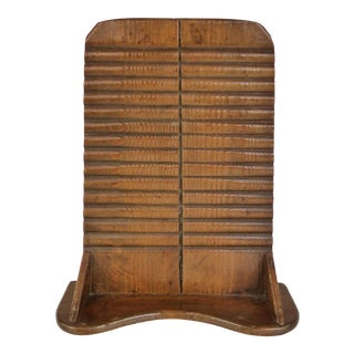 Early Primitive Hand-Carved Wood Washboard