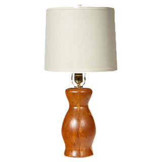 1960s Small Turned Wood Lamp