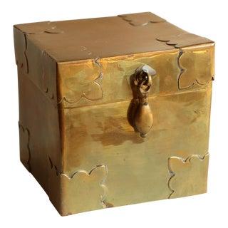 Hinged Brass Trunk Box