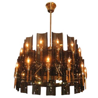 Max Ingrand for Fontana Arte Large Chandelier Italy circa 1960