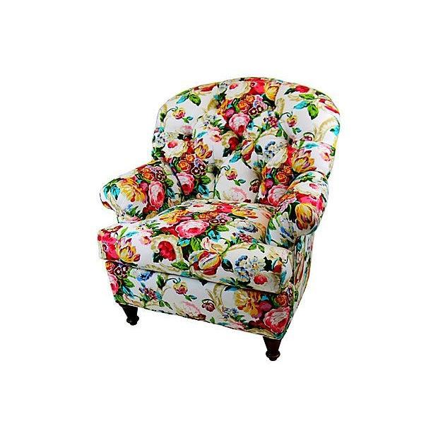 Chintz Floral Club Chair Chairish