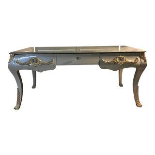 Neoclassical Jade Marble Desk