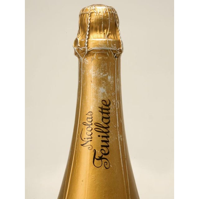 Image of Set of 6 Nicolas Feuillatte Champagne Bottle Store Props