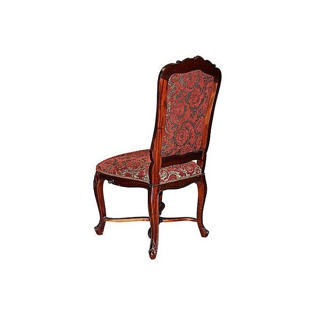 Louis XV-Style Mahogany Side Chairs - Set of 6 - Image 6 of 7
