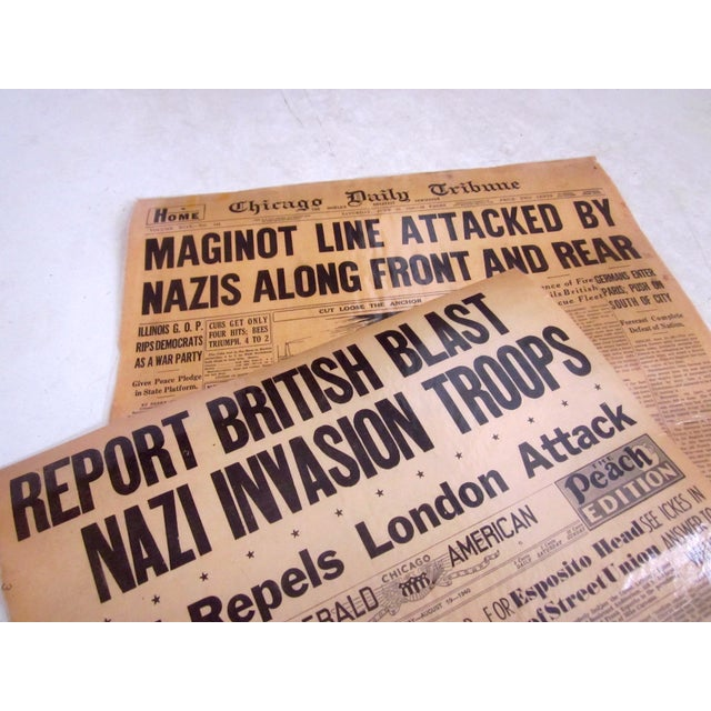 48 Laminated Newspapers from 1940s - Image 5 of 7