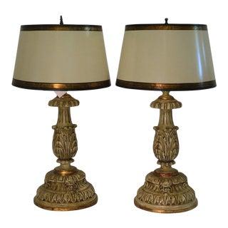 Pair of Thomas Morgan Table Lamps w Custom Shades