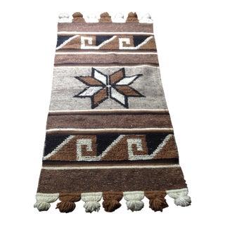 """Vintage Southwestern Wool Rug - 2'2"""" x 4'8"""""""