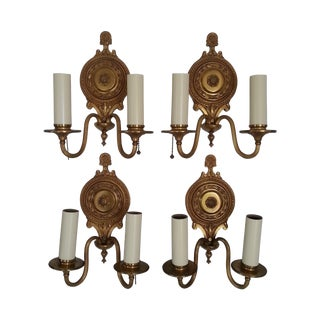 Neoclassical Gilt Bronze Sconces - Set of Four