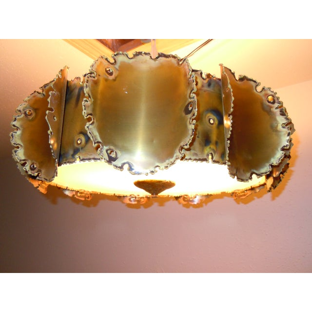 Tom Greene Brutalist Chandelier - Image 3 of 9